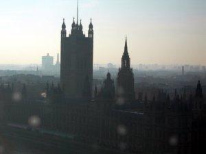 Hazy parliament house by orca