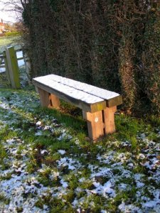 Bench in the sun by orca